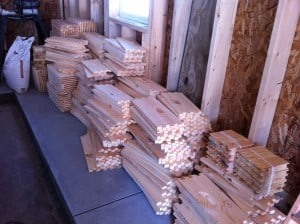The winter months are a good time to assemble hive bodies, supers, and frames.